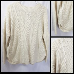 Joseph A cable knit sweater off white size PL